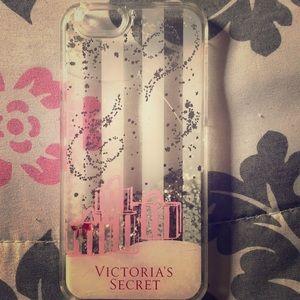 Silver Glitter Clear Liquid Victoria's Secret Case